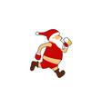 santa run beer logo vector image