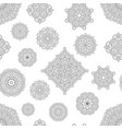 seamless pattern from black and white mandalas vector image