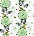 Seamless pattern of stylized ethnic flowers vector image vector image