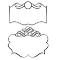 set of decorative frame and borders art vector image