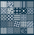 set of endless geometric patterns composed with vector image