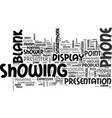 showing word cloud concept vector image vector image