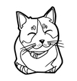 sketch of the cat on white background vector image vector image