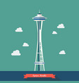 space needle observation tower in seattle vector image