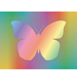spectrum butterfly vector image vector image