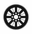 Sprocket from bike icon simple style vector image vector image