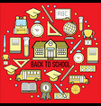 stock of school icon web set vector image vector image
