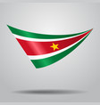 surinamese flag background vector image vector image
