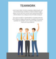 Teamwork card with blue frame