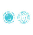 teeth whitening tooth icon healthy safe tooth vector image vector image