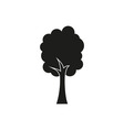 tree black simple icon on white background vector image vector image