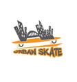 urban skate design template vector image vector image