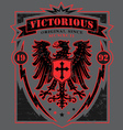 Victorious eagle heraldry t-shirt graphic