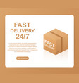 web banner for fast delivery 24 7 and e-commerce