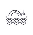 lunar vehicle line icon sign vector image