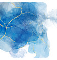 abstract blue liquid watercolor background vector image