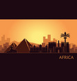 abstract landscape with the sights of africa at vector image vector image