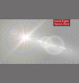 abstract lens gold front solar flare transparent vector image vector image