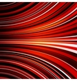 Abstract warped red stripes colorful background vector image vector image
