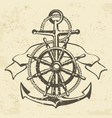 anchor symbol badge grange vector image vector image