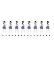 anime manga schoolgirl in sailor suit blue skirt vector image vector image