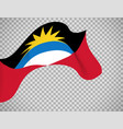 antigua and barbuda flag on transparent vector image vector image