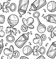 Baby objects pattern vector image vector image