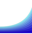 background from blue curved stripe layers vector image vector image