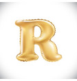 balloon letter r realistic 3d isolated gold vector image vector image