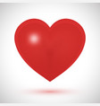 big red heart on a white background vector image