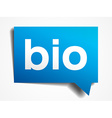 Bio blue 3d realistic paper speech bubble isolated vector image vector image