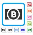 bitcoin cash framed icon vector image vector image