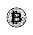 bitcoin coin isolated crypto currency symbol vector image vector image