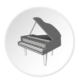 Black grand piano icon cartoon style vector image