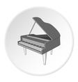 Black grand piano icon cartoon style vector image vector image
