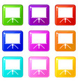 blank projection screen set 9 vector image vector image