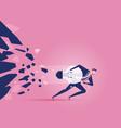 breakthrough - business concept vector image