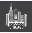 chicago illinois usa skyline design template vector image vector image