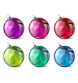 Christmas and New Year Ball Collection vector image vector image
