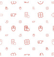 click icons pattern seamless white background vector image vector image