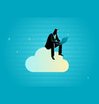 cloud data storage concept vector image vector image