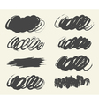 Collection hand drawn brush strok vector image