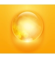 colorful glossy sphere orb vector image vector image