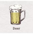 Colorful hand drawn sketch beer mug