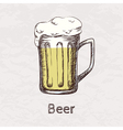 colorful of hand drawn sketch of beer mug vector image vector image