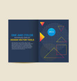 cover brochure flyer template abstract geometric vector image