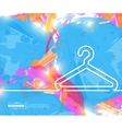Creative hanger for clothes Art vector image vector image