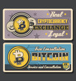 cryptocurrency exchange bitcoin currency trade vector image vector image
