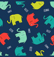 cute elephant seamless pattern background in vector image