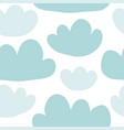 cute hand-drawn endless doodle pattern with clouds vector image vector image